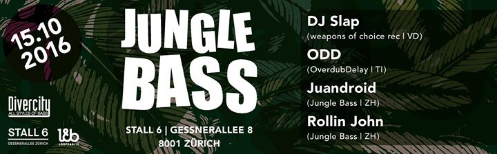 Jungle Bass Local Night @ Stall 6, 15.10.2016