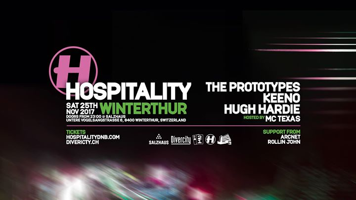 Hospitality Winterthur 2017 – Prototypes, Keeno, Hugh Hardie @ Salzhaus, Winterthur – 25.11.2017
