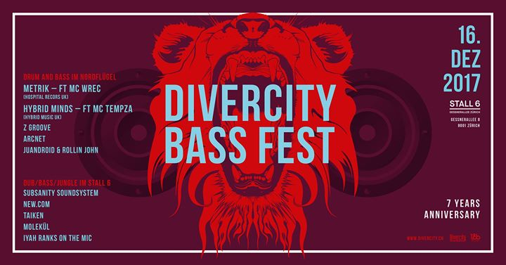 Divercity Bass Fest – Metrik UK, Hybrid Minds UK @ Stall 6, Zürich – 16.12.2017