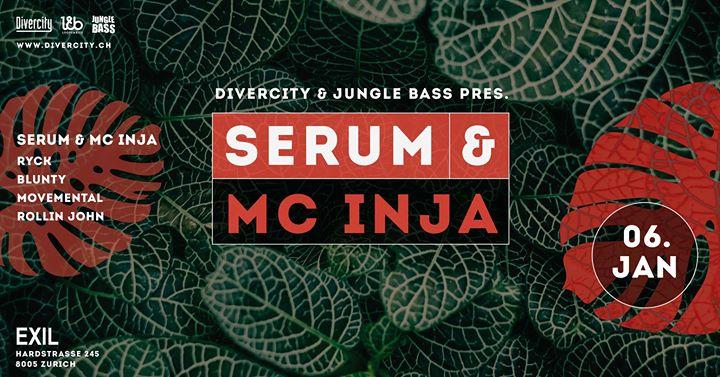 Jungle Bass with Serum & Inja @ Exil, Zürich – 06.01.2018