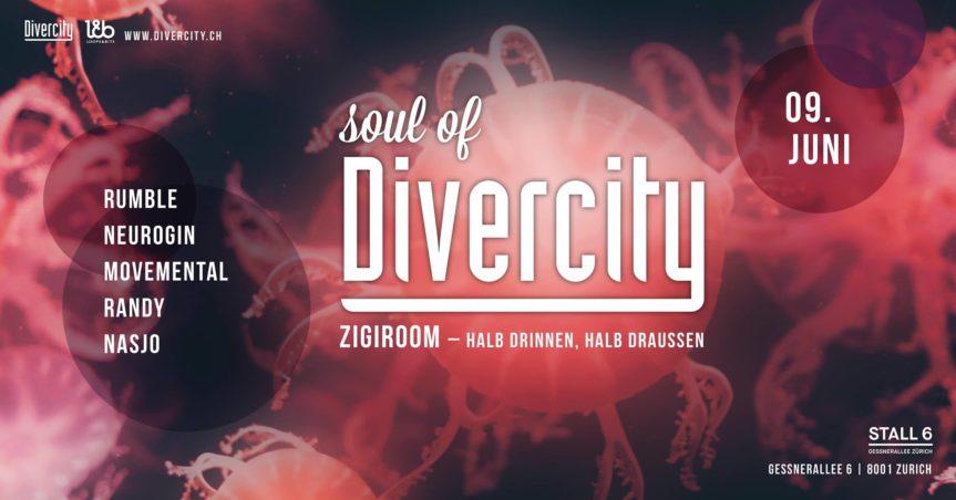 Soul of Divercity – Zigiroom @ Stall 6, Zürich – 09.06.2018