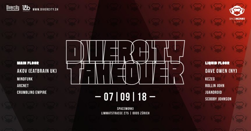 Divercity Takeover – AKOV & Dave Owen @ SpaceMonki, Zürich – 07.09.2018